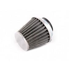 Фильтр нулевого сопротивл. М1 38/39мм прямой крышка хром