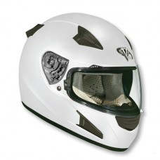 Шлем (интеграл)  HD188  Solid  белый глянцевый  XL