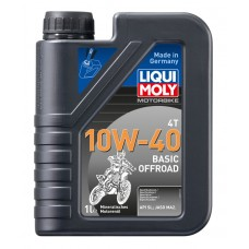 Liqui Moly 3059 Мин.мот.масло д/4-т.мотоц.Motorbike 4T Basic Offroad 10W-40 SL;JASO MA2(1л)