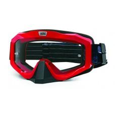 Очки мотокросс/снегоход (двойное стекло) ATAKI HB-811 красные глянцевые