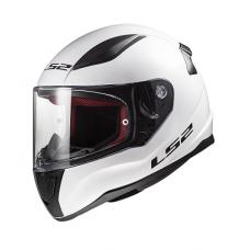 Шлем (интеграл) LS2 FF353 RAPID Solid белый глянцевый   M
