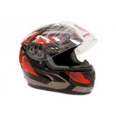 Шлем (интеграл) детский  ATAKI SC-36 Scope красный/черный глянцевый YL