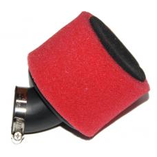 Фильтр нулевого сопротивл. М1 35мм 45град. крышка хром (красный)