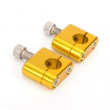 Крепление руля (компл.) CRF CNC желт.