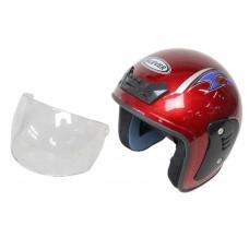 Шлем KLEVER-301 открытый красный