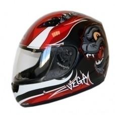 Шлем детский (интеграл) MACH-I JR. Wildcat красный гл.   S