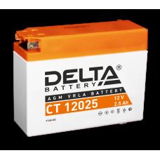 "АКБ ""DELTA"" СТ 12025 4B-BS 2,5ah Suzuki,Yamaha (114 х 38 х 86)"