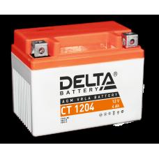 """АКБ """"DELTA"""" СТ 1204  YTX4L-BS (112 х 68 х 88)"""