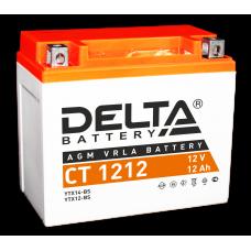 """АКБ """"DELTA"""" СТ 1212  YTX12-BS (148 х 87 х 131)"""