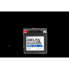 """АКБ """"DELTA"""" EPS 1214  YTX14-BS, YTX14H-BS (149 х 87 х 144) (плюс слева)"""